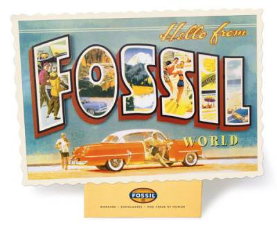 Fossil - Postcard dispaly