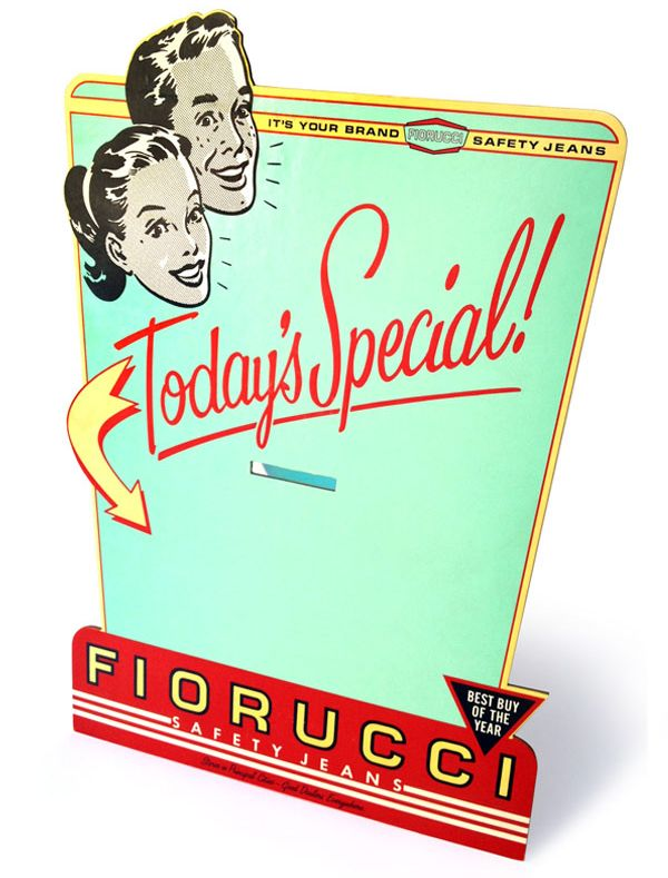 Fiorucci - Cartello - <i>Today's Special!</i>
