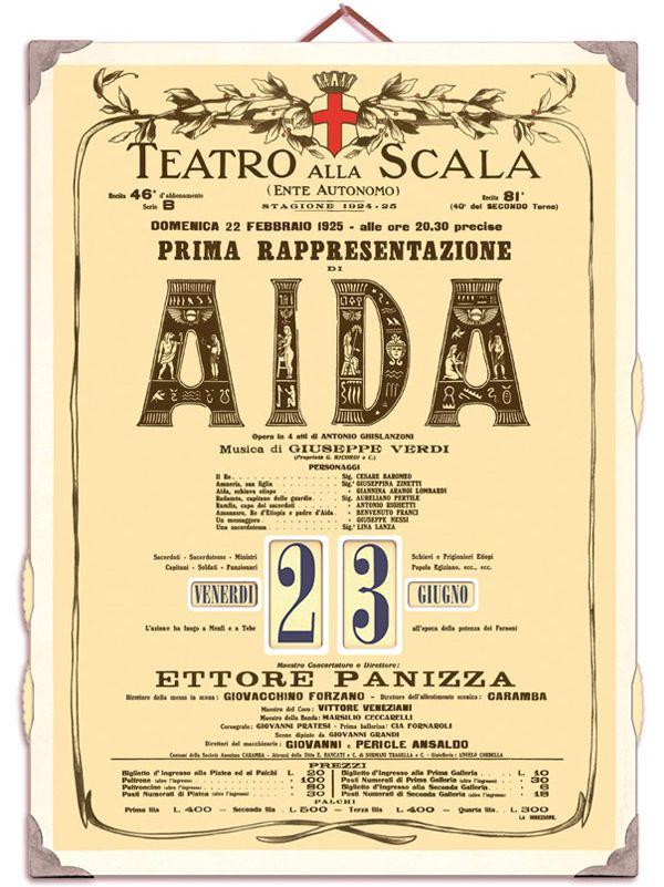 Calendario Teatro Alla Scala.Teatro Alla Scala Calendario Aida Cantadori Design Group